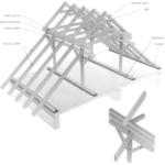 Polski dach łamany o konstrukcji jętkowej