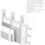 """Ściana zewnętrzna z zimnogiętych profili ze stali ocynkowanej z ociepleniem wykonanym metodą """"lekką-mokrą''"""