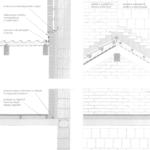 Połączenie dachu z poddaszem nieużytkowym z trójwarstwową ścianą szczytową wychodzącą ponad połać dachu