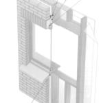 Otwory okienne w ścianach szkieletowych z murowaną ścianką osłonową